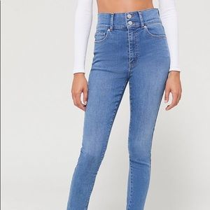 BDG Twigg Double Button High Waisted Skinny Jeans